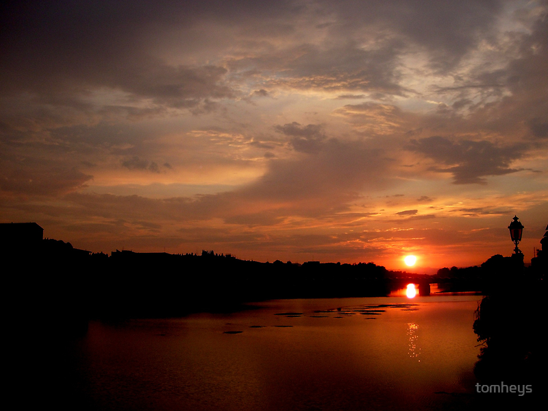 Sunset on the Arno (Number 1) by tomheys