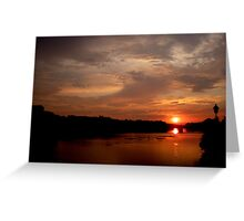 Sunset on the Arno (Number 1) Greeting Card