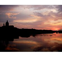 Sunset on the Arno (Number 2) Photographic Print
