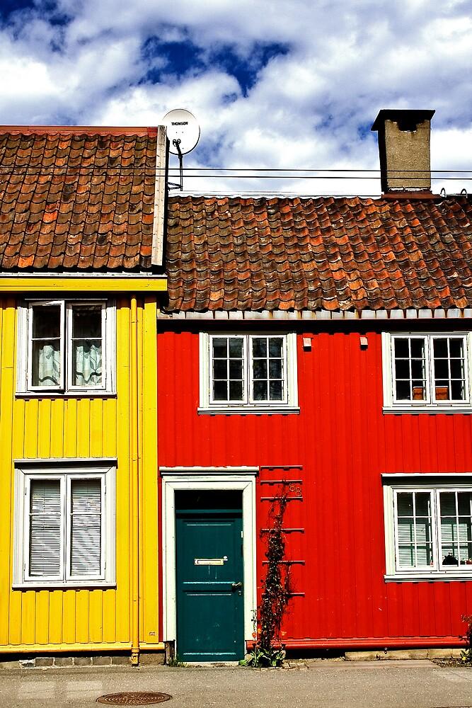 Streets of Trondheim by Åsta Skjervøy