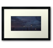 0986 - HDR Panorama - Sunset Framed Print