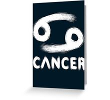 Cancer (White) Greeting Card