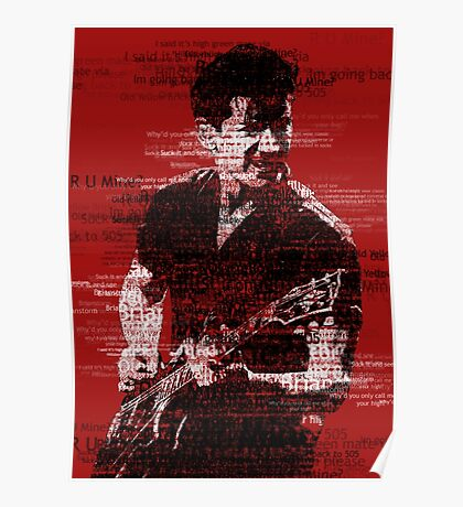 Alex Turner Typography (Red) Poster
