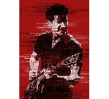 Alex Turner Typography (Red) Photographic Print