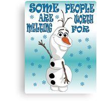 Olaf - Frozen Canvas Print
