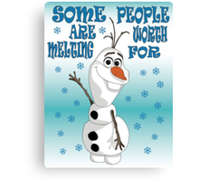 Olaf - Frozen Canvas Print