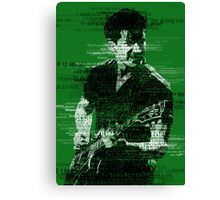 Alex Turner Typography (Green) Canvas Print