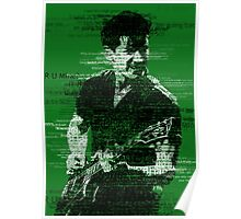Alex Turner Typography (Green) Poster
