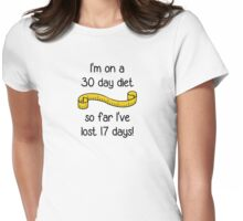 I'm On a 30 Day Diet Womens Fitted T-Shirt