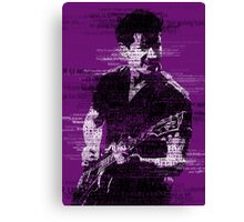 Alex Turner Typography (Purple) Canvas Print