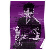 Alex Turner Typography (Purple) Poster