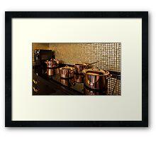 saucepans Framed Print