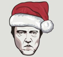 Christopher Walken - Christmas T-Shirt by FacesOfAwesome