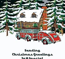 Godfather Sending Christmas Greetings Card by Gear4Gearheads