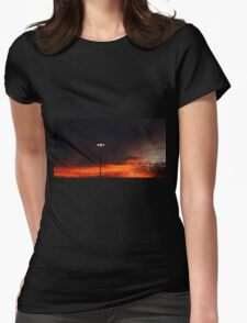 1013 - HDR Panorama - Sunset Womens Fitted T-Shirt