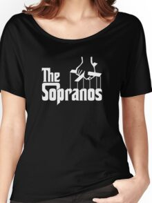 The Sopranos Logo (The Godfather mashup) (White) Women's Relaxed Fit T-Shirt