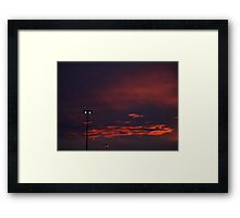 1014 - HDR Panorama - Sunset Framed Print