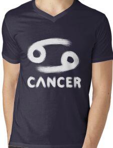 Cancer (White) Mens V-Neck T-Shirt