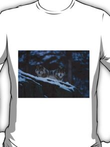 Timber Wolves In Late Evening. T-Shirt