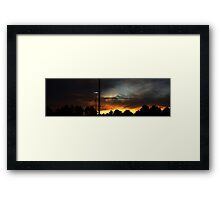 1017 - HDR Panorama - Sunset Framed Print