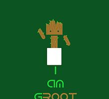 Groot & Android Mashup - (I am gROOT version) by Matthew Ellerington