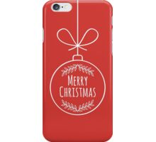 Merry Christmas Decoration iPhone Case/Skin