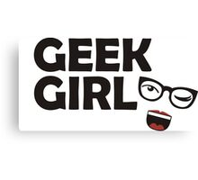 Geek Girl Canvas Print