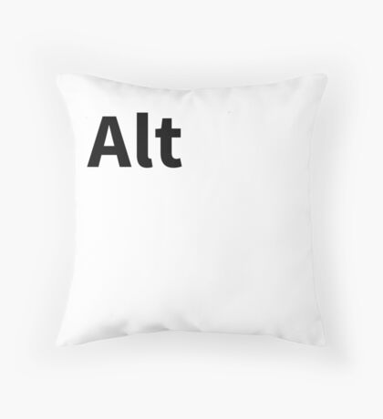 Alt Pillow | Alternate Key Pillow Throw Pillow