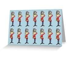 Saluting Guardsmen on Parade Greeting Card