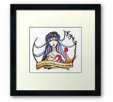 Hold my heart it's beating for you anyway Framed Print