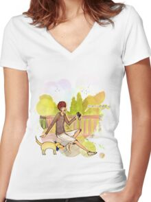 Passage Women's Fitted V-Neck T-Shirt