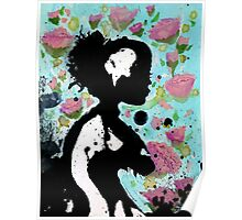 Floral Silhouette Poster
