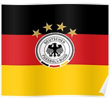 DFB on German Flag Poster