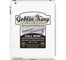 Goblin King Baby Care Services iPad Case/Skin