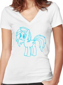 DJ Pon-3 in the house Women's Fitted V-Neck T-Shirt