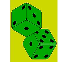 TUMBLING DICE-GREEN Photographic Print