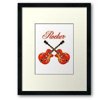 Rocker  Red Framed Print