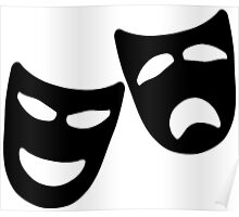 Tragedy and Comedy Masks Poster