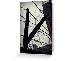 Cut down to the wire Greeting Card