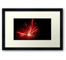 Fireworks at One Second Framed Print