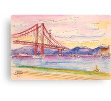 tejo . quick coffee table sketch. cafe in Canvas Print