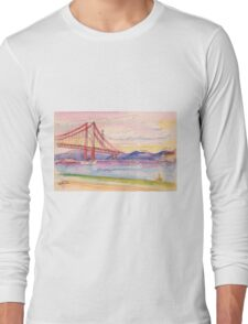 tejo . quick coffee table sketch. cafe in Long Sleeve T-Shirt