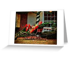 A Pause For Santa Greeting Card