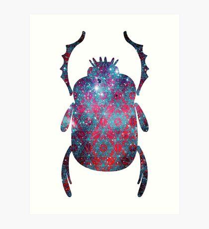 Spiderman Nebula Sacred Geometry | Egyptian Scarab Beetles  Art Print