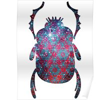 Spiderman Nebula Sacred Geometry | Egyptian Scarab Beetles  Poster
