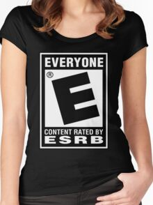 Content Rated by ESRB Women's Fitted Scoop T-Shirt