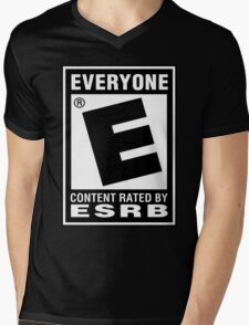 Content Rated by ESRB Mens V-Neck T-Shirt