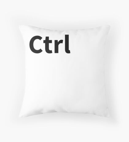 Ctrl Pillow | Control Key Pillow Throw Pillow