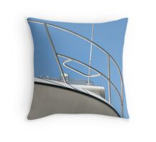 Boat against blue sky Throw Pillow