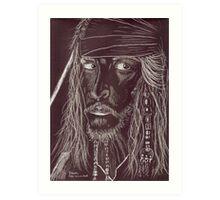 GHOST CAPTAIN, Johnny Depp Art Print